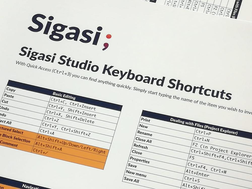 An updated Keyboard Shortcuts Sheet
